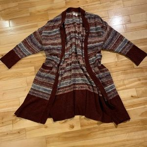 DC 3X long sleeve knit cardigan with pockets